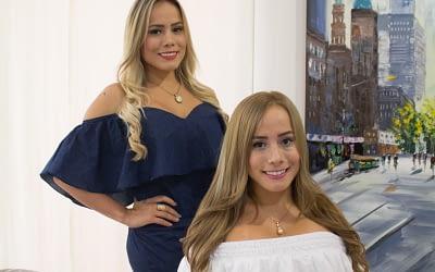 Luisa Fernanda y Diana Susunaga