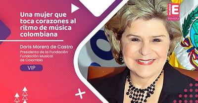 Una mujer que toca corazones al ritmo de música colombiana
